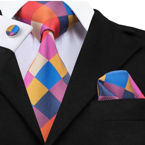 Belle Beau By Tiara Accessories Style 2 Tie Pocket Square And Cuff